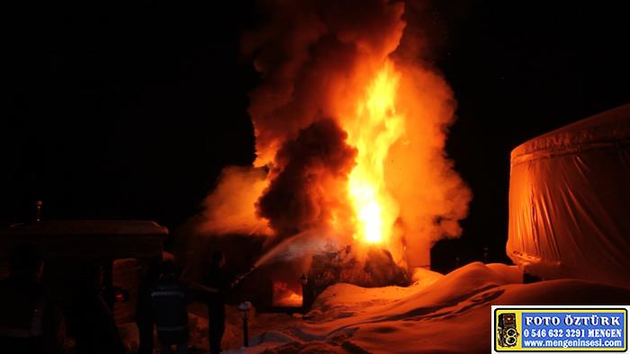 Mengen Şirinyazı Göleti'nde 6 konaklama çadırı kül oldu