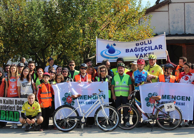 Mengen'de Bisiklet Turu Yapıldı