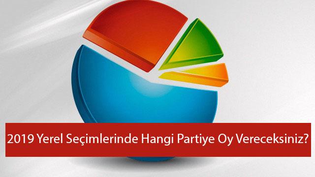 2019 Yerel Seçimlerinde Hangi Partiye Oy Vereceksiniz ?