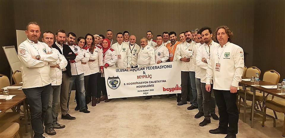 Ulusal Aşçılar Federasyonu 5.Koordinasyon çalıştayını Bolu Koru Otel'de gerçekleştirdi.