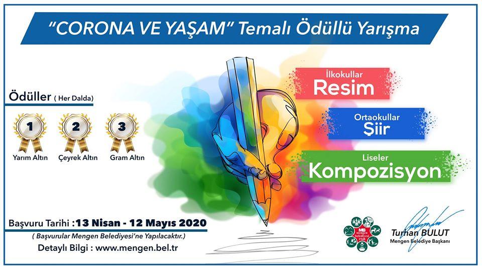 """MENGEN BELEDİYESİ """"KORONA VE YAŞAM"""" TEMALI ÖDÜLLÜ YARIŞMA"""