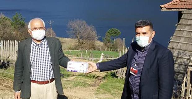 Mengen  Kaymakamlığı Tüm Köy Muhtarlıklarına Maske Dağıtımı Yaptı