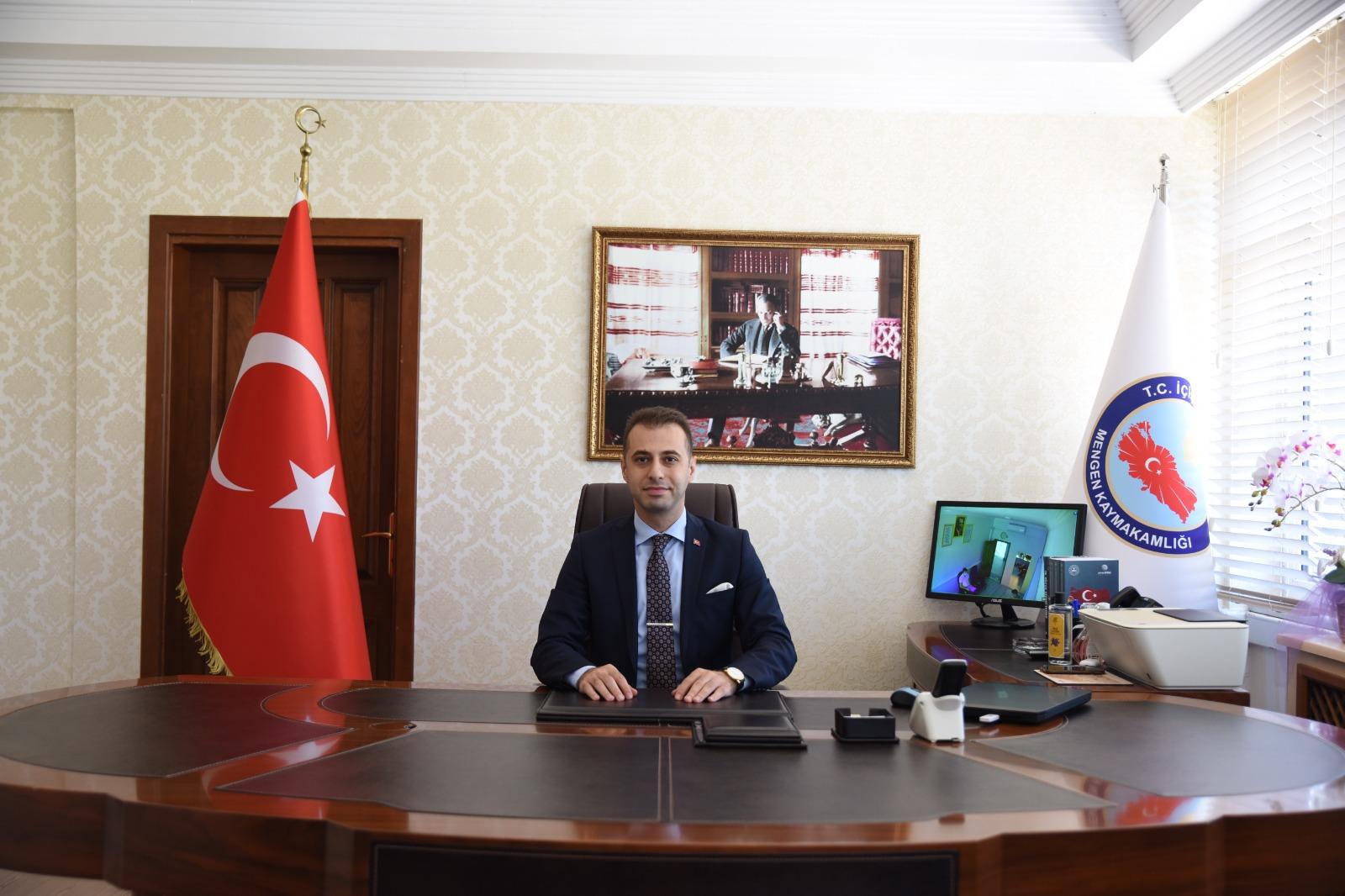 Mengen Kaymakamlığı'na atanan Ekrem Ender Ergün , görevine başladı.