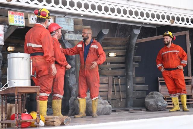 Mengen'de Madencilere tiyatrolu iş güvenliği eğitimi